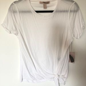 NWT Forever21 white T-shirt with tie detail
